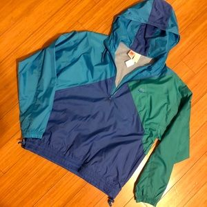 Vintage Nike Quarter Zip Hooded Windbreaker!